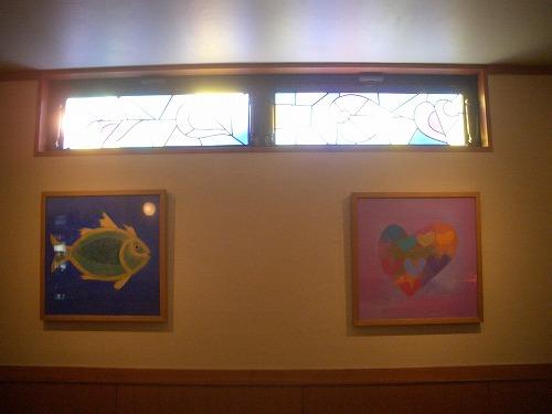 etsuroステンドグラスと絵画たち